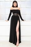 EVA simple strapless bodycon maxi