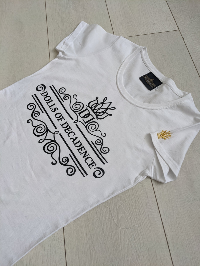 Signature lady fit logo white cotton t-shirt