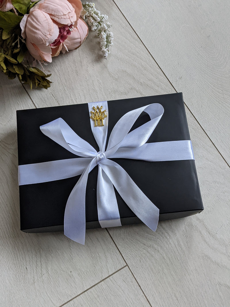 SILVER LINING luxury Oversize satin hair scrunchie gift set* gift wrapping & personalisation