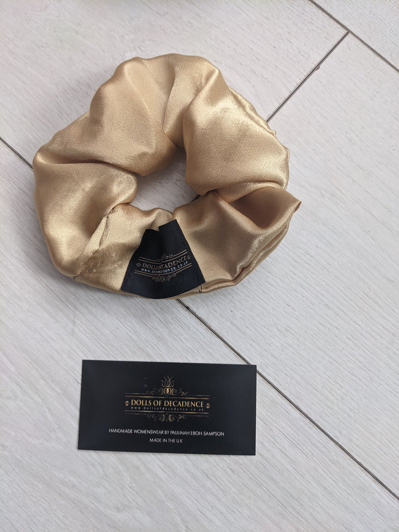 GOLD RUSH luxury oversize handmade satin scrunchie gift set