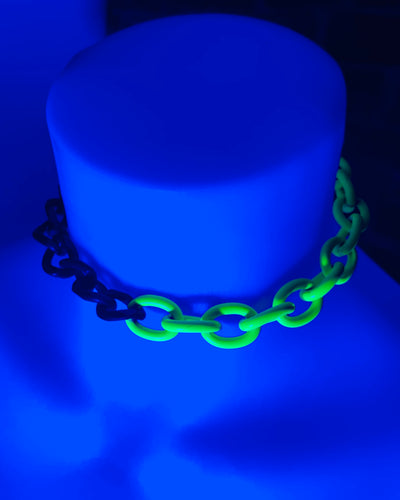 uv reactive glow up choker by sudosci