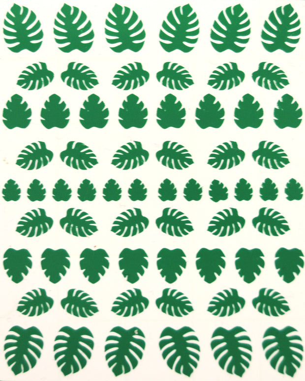 nail sticker sheet featuring leaf stickers made by sudosci