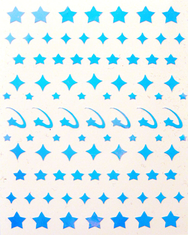 nail sticker sheet featuring star designs made by sudosci