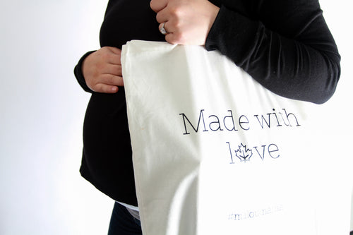 Designed for mamas and everyday life. The most comfortable fabrics. Sustainable fashion that's made with love in Canada. This MALOU bag lets you show your pride for being Canadian and for supporting local businesses.