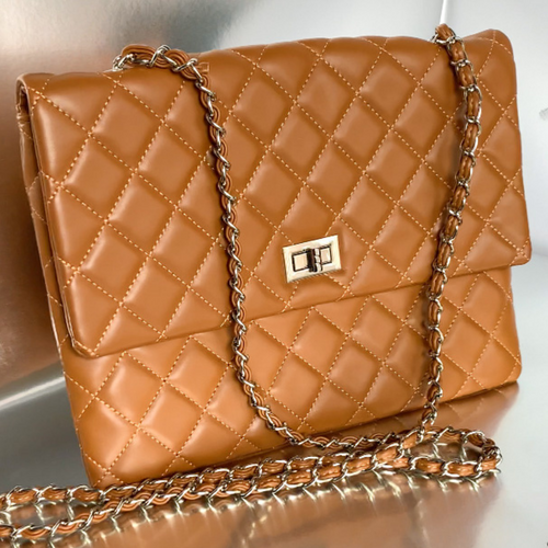 Luxe Flap Bag (Camel)