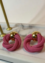 Load image into Gallery viewer, Swirl Earrings (Pink)