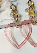 Load image into Gallery viewer, Heart Dangle Earrings