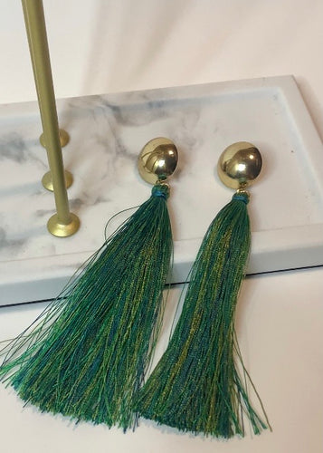 Peacock Tassel Earrings