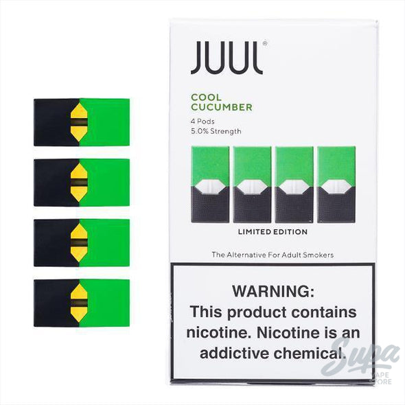 JUUL Cucumber Pods - 5% (4 Pack)-Pod System-Juul-Supa Vape Store - Toronto Ontario Canada