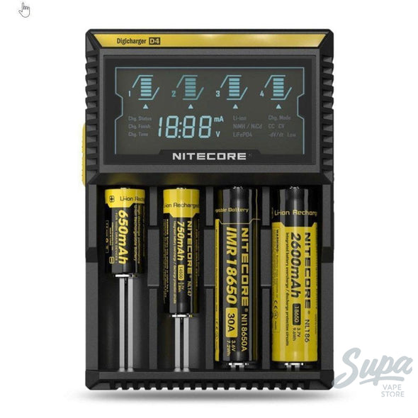 Nitecore Intellicharger Digital Battery Charger - D2, D4-Supplies-Nitecore-Supa Vape Store - Toronto Ontario Canada