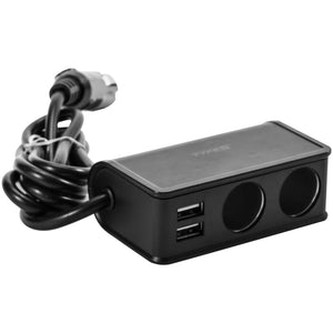 12V Twin USB & Twin Sockets Charger