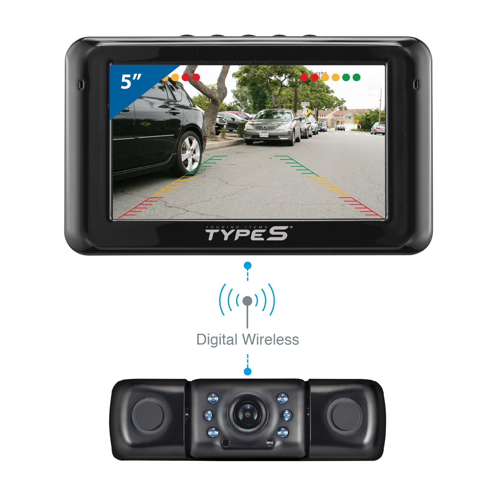 BehindSight with Distance Audio Alert Backup Camera Kit ... on