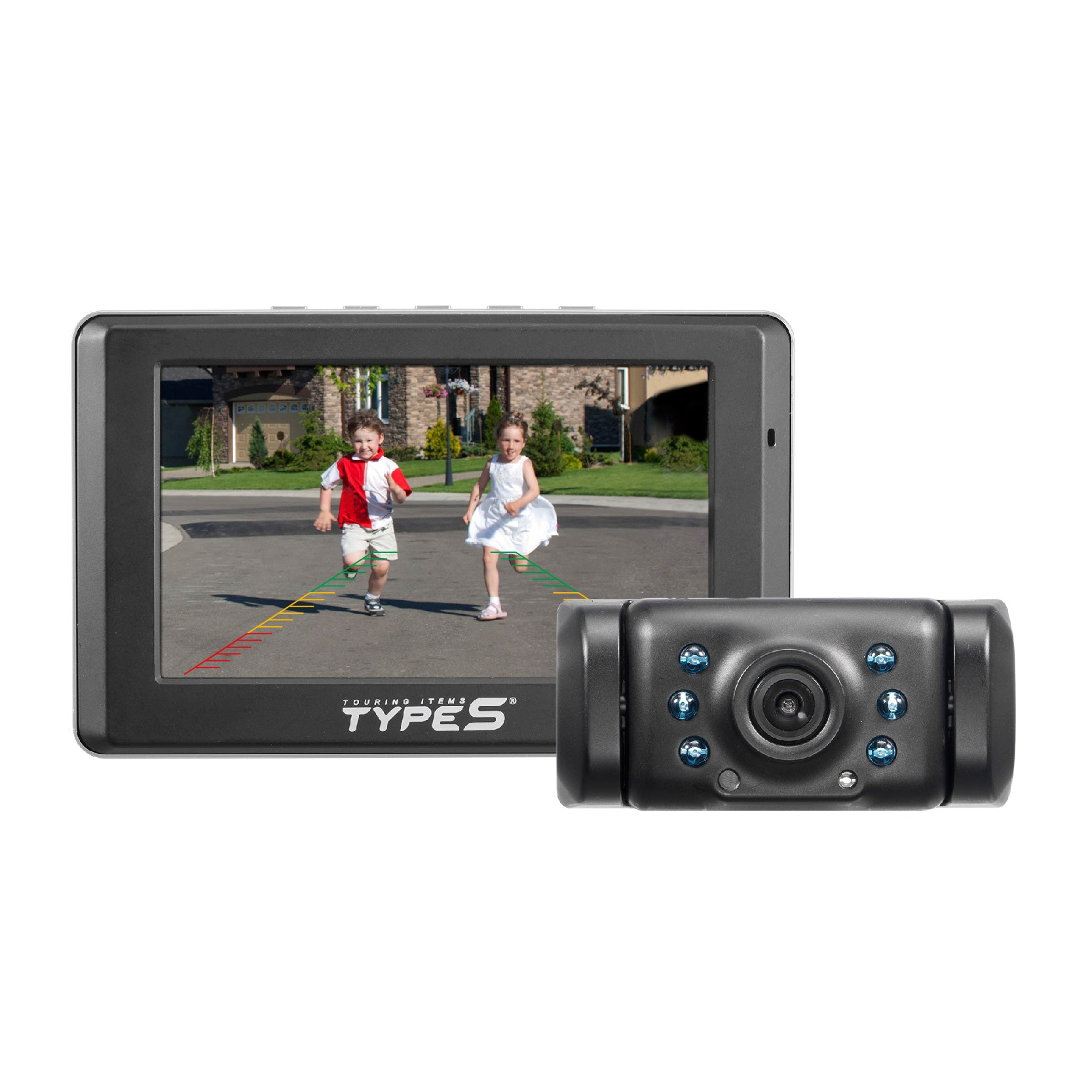 """camera wiring diagram solar powered hd quick-connect wireless backup  cam with 5"""" hand wave on samsung"""