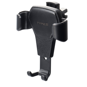 Universal Phone Holder with Gravity Linkage Auto Clamping