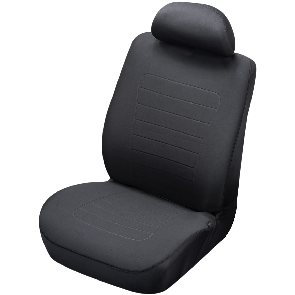 Reversible Seat Covers, White Dots/ Plain Black