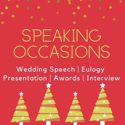 Christmas Sale - Speaking Occasions