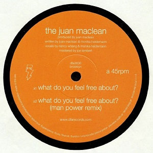 JUAN MACLEAN   /  WHAT DO YOU FEEL FREE ABOUT? / ZONE NON LINEAR