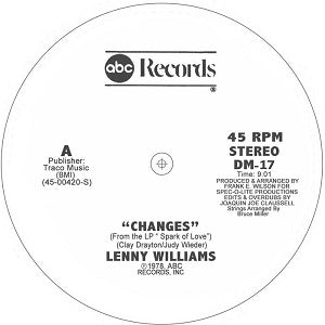 LENNY WILLIAMS / CHANGES - JOAQUIN JOE CLAUSSELL EDITS AND OVERDUBS VESION