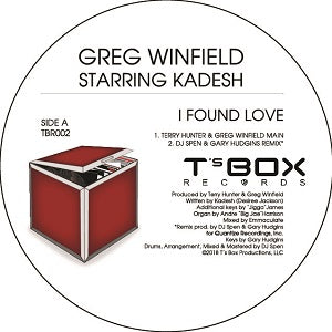 GREG WINFIELD starring KADESH   /   I FOUND LOVE -TERRY HUNTER / DJ SPEN / MIKE DUNN REMIXES