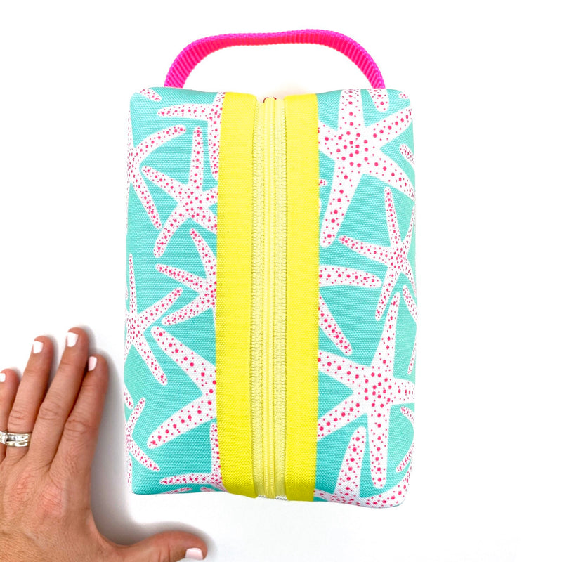 Aqua Starfish Boxy Toiletry Bag