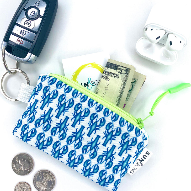 Blue Lobsters Key Chain Wallet