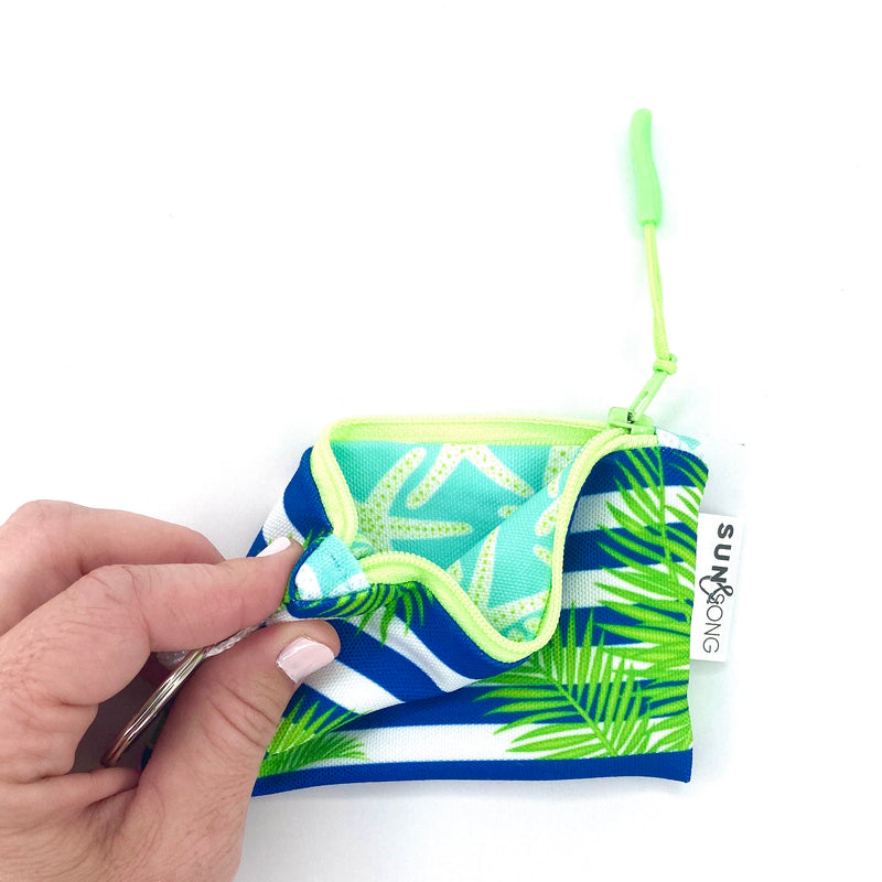 palm leaves zipper pouch