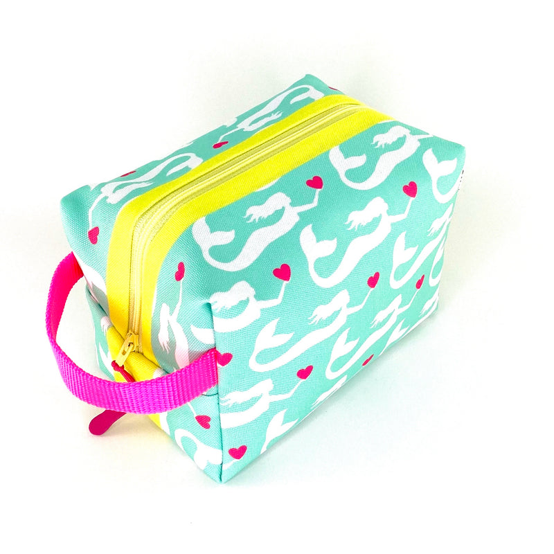 aqua mermaid waterproof boxy toiletry bag