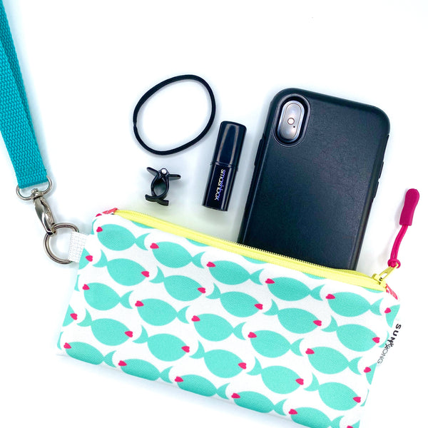 Aqua Fish Lips Pencil Case