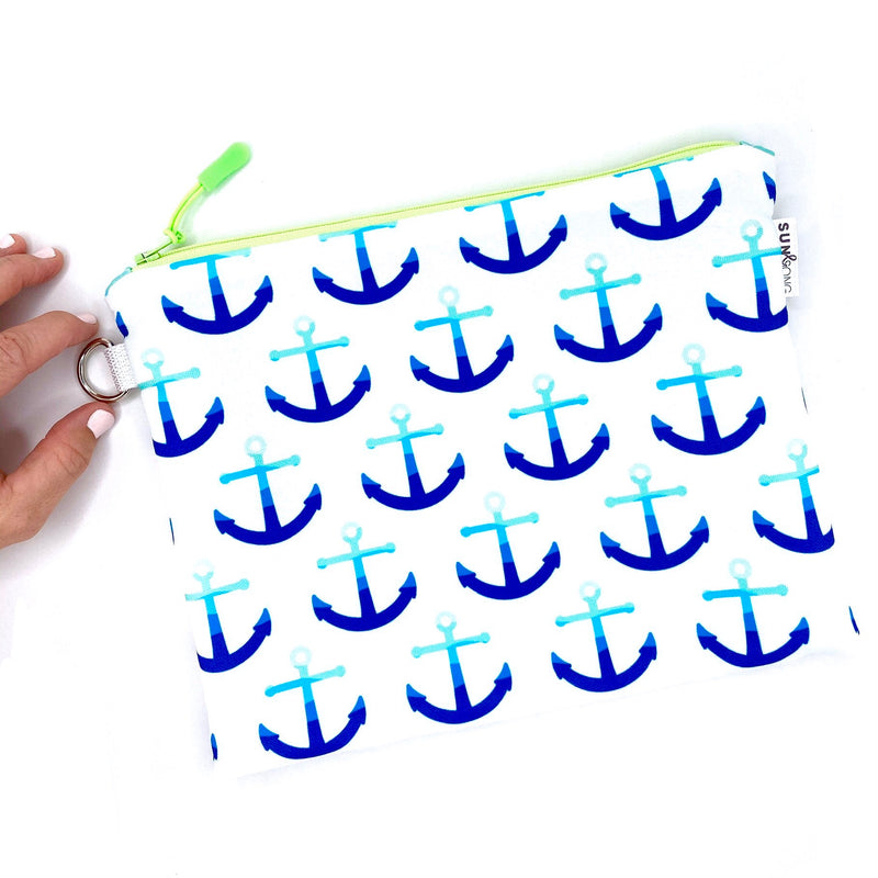 blue waves waterproof wet bag