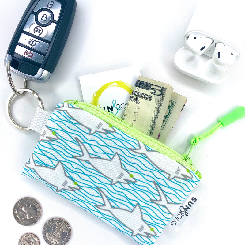 Sharks & Waves Key Chain Wallet
