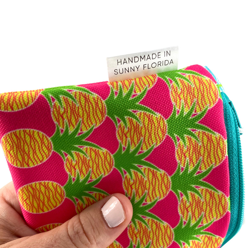 Pink Aloha Pineapples Pencil Case