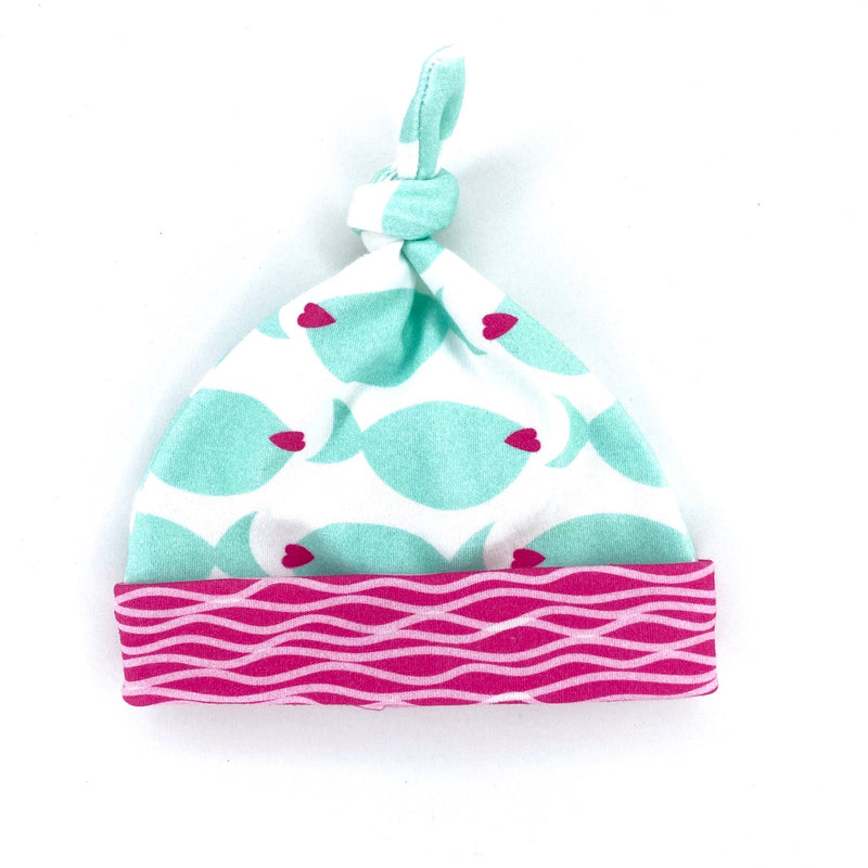 fish lips organic cotton baby girl hat
