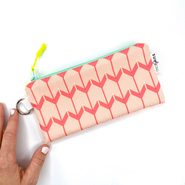Pink Chevron Arrows Pencil Case