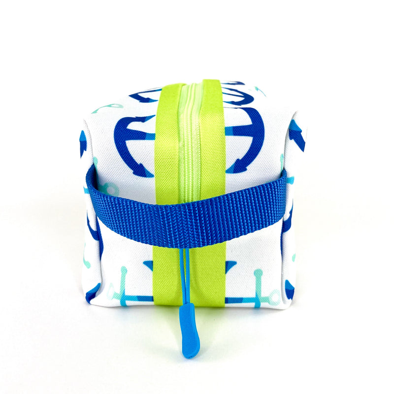 Blue Anchors Boxy Toiletry Bag