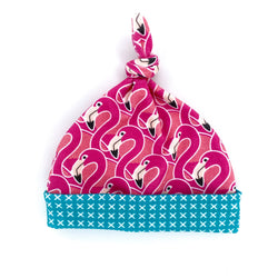 pink flamingo baby girl cotton hat