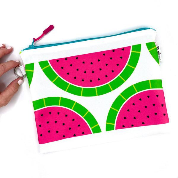 pink watermelon waterproof wet bag