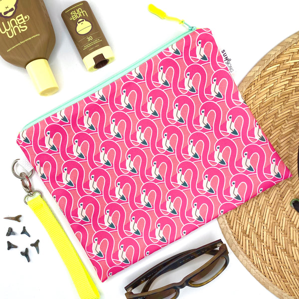 Pink Flamingos Wet Bag