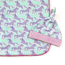 unicorn newborn swaddle blanket and hat set