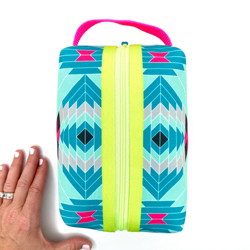 Pink Aztec Boxy Toiletry Bag