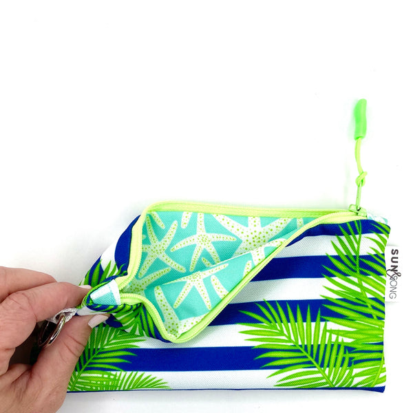Palm Fronds & Stripes Pencil Case