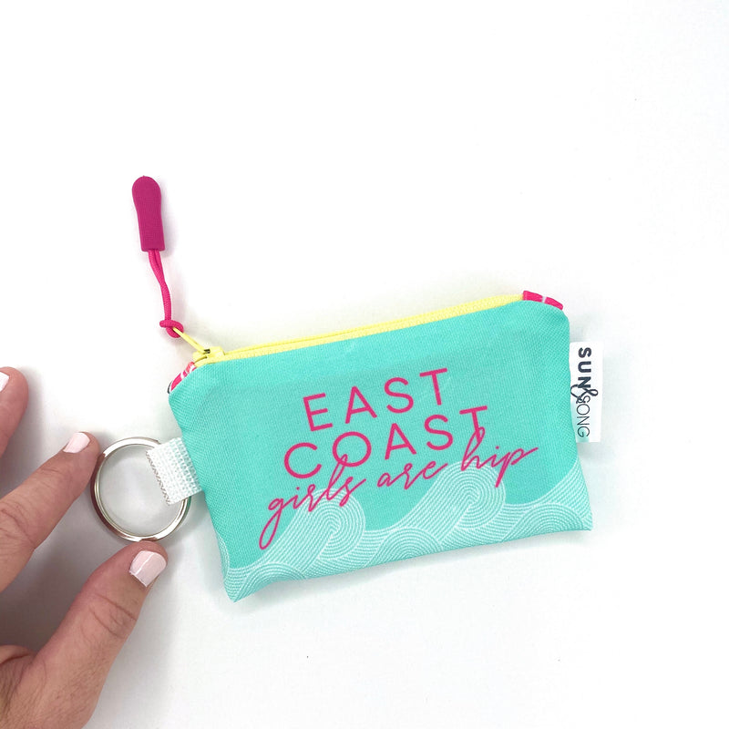 east coast girl key chain coin pouch