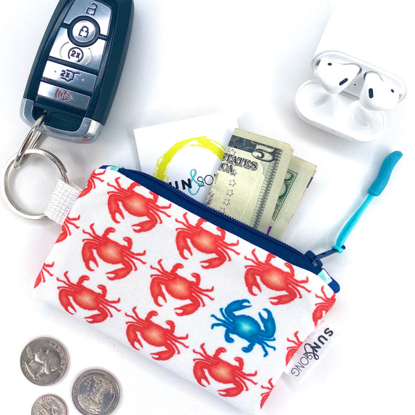 Red Crabs Key Chain Wallet