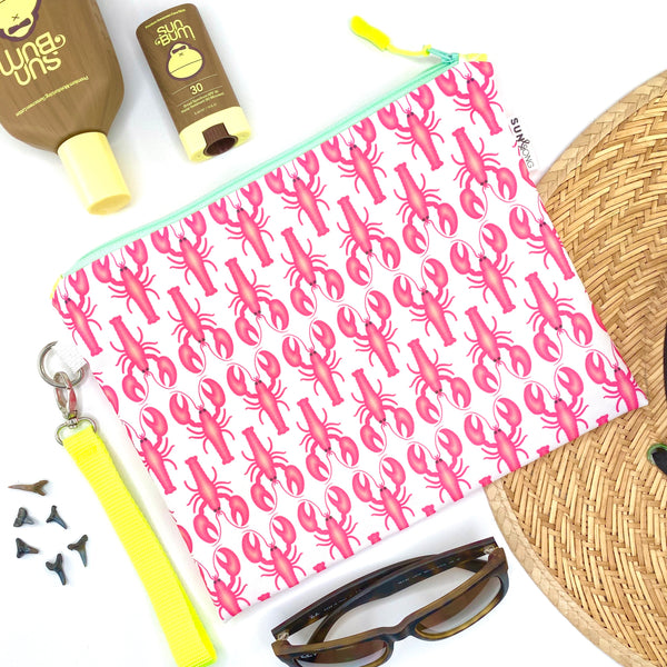 Pink Lobsters Wet Bag