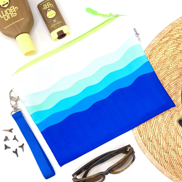 Blue Waves Wet Bag