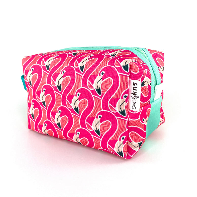 Pink Flamingos Boxy Toiletry Bag