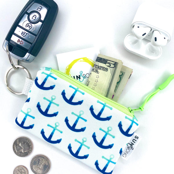 Blue Anchors Key Chain Wallet