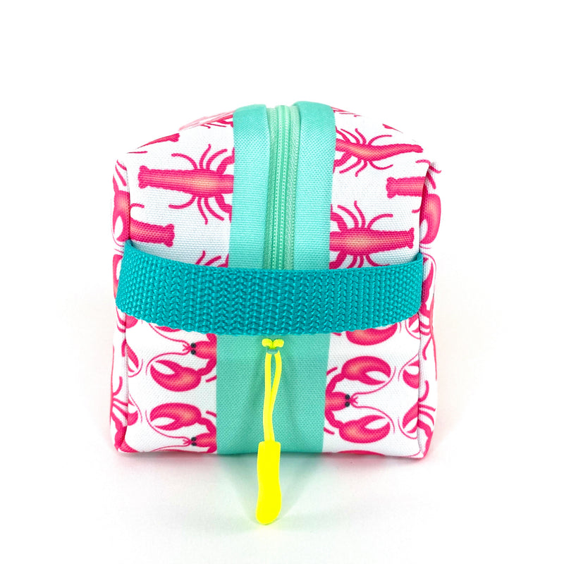 Pink Lobsters Boxy Toiletry Bag