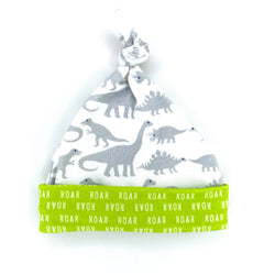 grey dinosaur baby boy hat gift