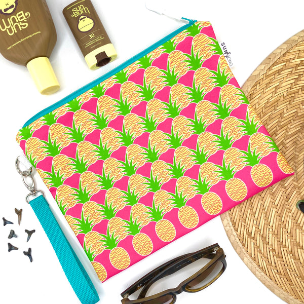 Pink Aloha Pineapples Wet Bag