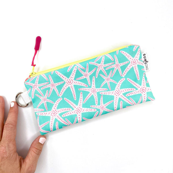 aqua starfish pencil pouch gift for best friend